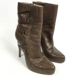 BOUTIQUE 9 STRUT LEATHER BOOTIES